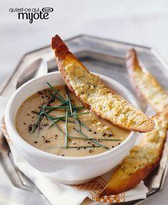 Soupe aux poireaux et crostinis au parmesan #recette