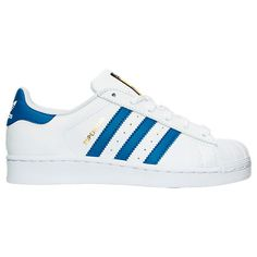 Kids' Grade School adidas Superstar Casual Shoes - S74944 WBU | Finish Line