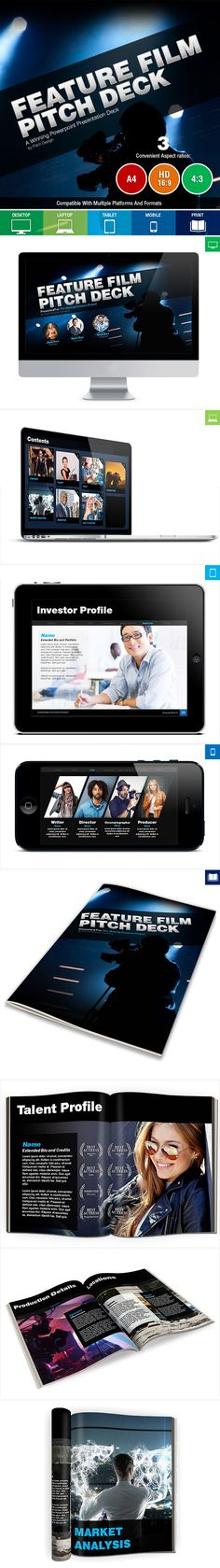 Feature Film Pitch Deck #powerpoint #design Download: http://graphicriver.net/item/feature-film-pitch-deck/10803618?ref=ksioks