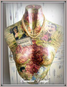 Evocative Vintage: Decoupaged Mannequin