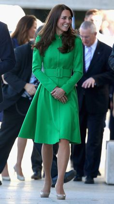 Catherine, Duchess of Cambridge arrives at the Portrait Gallery on April 24, 2014 in Canberra, Australia.