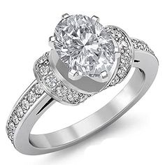 $6,999  -  * GIA CERTIFIED * 2.50 CARATS OVAL DIAMOND ACCENTED SOLITAIRE ENGAGEMENT RING ON 14K SOLID WHITE GOLD F 26 D http://www.amazon.com/dp/B00M3VD1TQ/ref=cm_sw_r_pi_dp_CHOyub09M84PZ