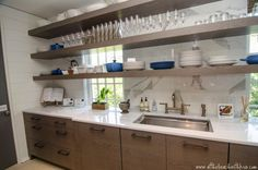 Modern Butler's Pantry, Contemporary, kitchen, At the Beach with Kris