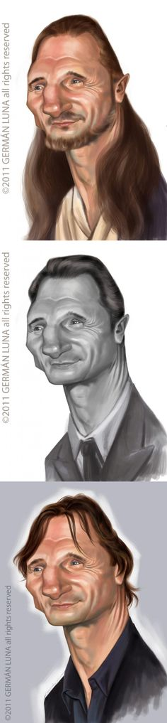 Caricaturas de Liam Neeson
