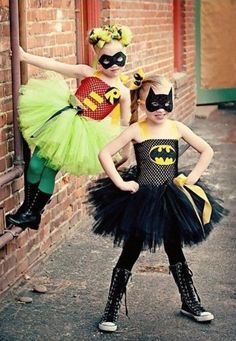 batman and robin - because you can never have too many tutus
