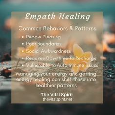 An empath is anyone who senses and reacts to the electromagnetic energy waves coming off of people, animals, plants or objects. How you sense and react to the energy is your personal expression of being an empath. Empath Traits, Intuitive Empath, Psychic Empath, Empath Abilities, Psychic Abilities, Highly Sensitive Person, Sensitive People, Subconscious Mind, Mind Body Soul