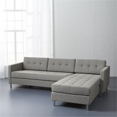 Get comfortable. In fresh colors and classic shades, our modern sectional sofas will breathe new life into any space. Shop the latest looks in sectional couches at Grey Sectional Sofa, Modern Sectional, Leather Sectional, Modern Sofa, New Living Room, Living Room Decor, Dining Room, Apartment Needs, Chaise Cushions