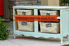 Dresser with baskets CeCe Caldwells Paints Redouxinteriors