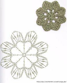 Watch The Video Splendid Crochet a Puff Flower Ideas. Phenomenal Crochet a Puff Flower Ideas. Crochet Puff Flower, Crochet Flower Tutorial, Crochet Leaves, Crochet Motifs, Crochet Flower Patterns, Crochet Diagram, Crochet Chart, Crochet Patterns Amigurumi, Thread Crochet