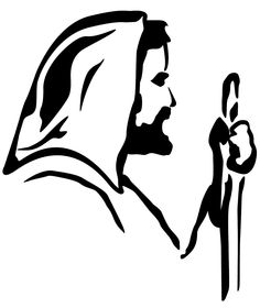 Jesus clip art black and white free clipart images 3 2 - ClipartCow