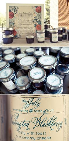 hand-crafted jam wedding favors! JoPhoto