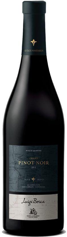 """""""Luigi Bosca Grand Pinot Noir"""" 2012 / 2013 - Bodega Luigi Bosca, Luján de Cuyo, Mendoza---------- Terroir: La Consulta (San Carlos) - Mendoza------------------------------ Crianza: El 50% del vino se cría de 6 a 8 meses en barricas de segundo uso"""