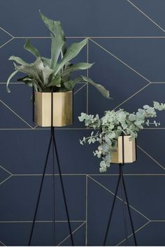 Hexagon Pot and Plant Stand By Trine Andersen for Ferm Living
