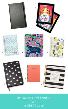My Favorite Planners for a Great 2015 #planner