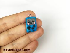 BMO 'Beemo' Adventure Time Necklace, Polymer Clay Necklace, Cute BMO Polymer Clay Charm Adorable Handmade Miniature by KawaiiSekaiiWorkshop on Etsy