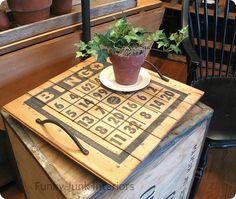 Pottery Barn inspired Bingo card tray
