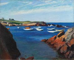 Edward Hopper, The Dories, Ogunquit, 1914.   Oil on canvas.   Whitney Museum of American Art, New York, Josephine N. Hopper Bequest