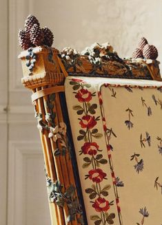 """melusineh: """" Detail of the chair designed for Marie Antoinette for the Petit Trianon, 1787 """""""