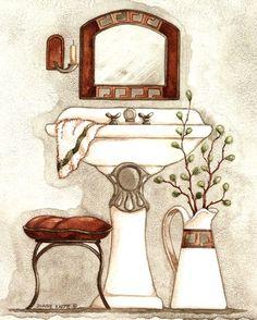 Athena IV Classic Bath by Diane Knott Art Prints, Posters & Custom Framing from Australia's own PictureStore. Bath Art, Bathroom Art, Bathrooms, Bathroom Paintings, Bathroom Canvas, Brown Bathroom, Classic Baths, Framing Photography, Bathroom Pictures