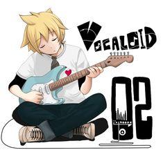 he looks so contemplative. a true musician! Vocaloid Funny, Vocaloid Len, Len Y Rin, Kagamine Rin And Len, Elsword, Guitar Boy, Vocaloid Characters, Mikuo, Sasuke X Naruto