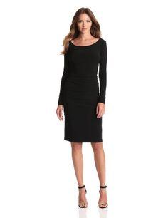 KAMALIKULTURE Women%27s Long Sleeve Shirred Waist Dress