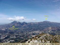Vistas de Aitana y Puig Campana desde Bernia #Altea #Alicante