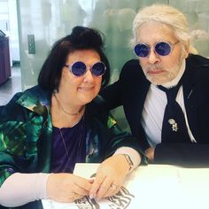 I am not allowed to say ANYTHING Karl has told me about the #chanel   Cruise show. Think sea blue sun glasses and guess the theme sailing through the  #Paris Grand Palais .......