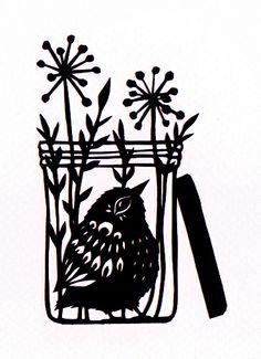 Bird in a Jam Jar by ruralpearl, via Flickr