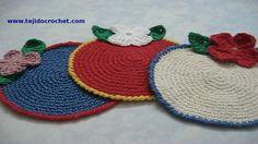 Posavasos en tejido crochet tutorial paso a paso.