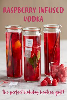 Raspberry Infused Vodka Transform raspberries and vodka into a spiced liqueur fancy enough fo. - - Raspberry Infused Vodka Transform raspberries and vodka into a spiced liqueur fancy enough fo. Flavored Alcohol, Flavoured Gin, Homemade Alcohol, Homemade Liquor, Infused Vodka, Vodka Recipes, Alcohol Recipes, Wine Recipes, Margarita Recipes