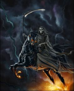 grim reaper riding horse - Google Search