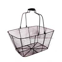Copper Brushed Rectangular Mesh with Swing Handle The Lucky Clover Trading Co.