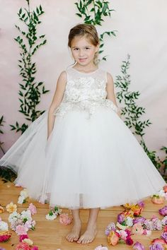 d9bd725895d 18% Off Lace tulle ball gown tea length flower girl dress This ball gown  flower