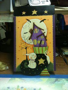 Halloween sign board