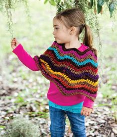Extremely easy kids crochet poncho with tear drop corner pattern crochet chevron poncho fandeluxe Image collections