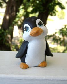 ceramic miniature penguin by NotLimited on Etsy