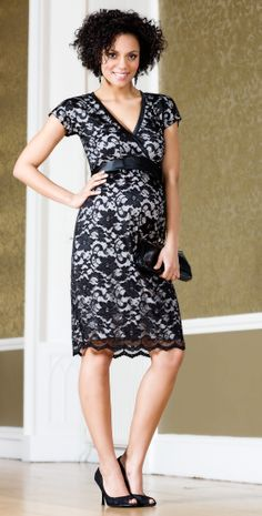 Grace Lace Maternity Dress (Black) - Maternity Wedding Dresses, Evening Wear and Party Clothes by Tiffany Rose