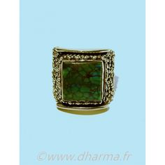 Turquoise Sterling Silver Tibetan Ring