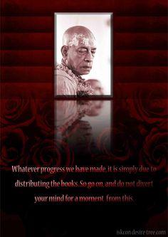 Srila Prabhupada on Progress  For full quote go to: http://quotes.iskcondesiretree.com/srila-prabhupada-on-progress/  Subscribe to Hare Krishna Quotes: http://harekrishnaquotes.com/subscribe/