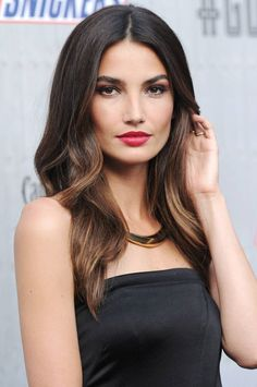 Subtle chocolate highlights brightens up dark hair and adds gorgeous dimension via @stylelist | http://aol.it/1x8eVHF