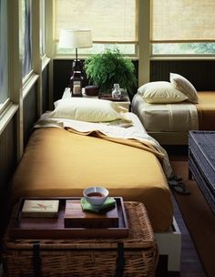 sleeping porch - beds could be dressed for sitting when not in use for sleeping