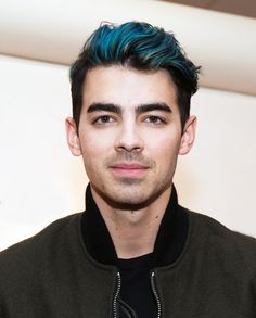 Joe Jonas Reveals Why He Dyed His Hair Blue (Hint: It's Not What You Think) from InStyle.com