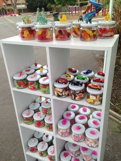 Lolly Jars - lolly stall display for the fete Candy Jar - carnival / festival idea