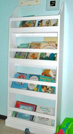 DIY knockoff Pottery Barn Madison Bookrack. Excellent idea for Alex's room instead of book case and spray painted navy blue or gray!!