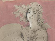 Hans Erni (1909-2015), Grape Harvest, detail, Tempera/Pencil, 1983