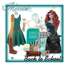 """Mérida Back To School"" by kellycassie ❤ liked on Polyvore featuring Bling Jewelry, claire's, Merida, Alexander Wang, maurices, LE3NO, HAY, Disaster Designs, Piel Leather and Tory Burch"