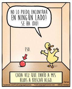 18 divertidas caricaturas para reirnos de la paternidad   Blog de BabyCenter  Caricaturas: Fowl Language