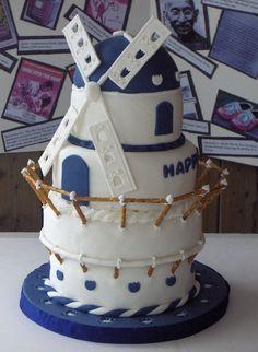 Windmill Birthday Cake....beautiful
