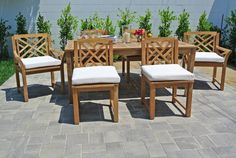 Monterey 7 Piece Dining Set with Cushions