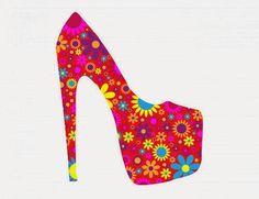 Colorful floral shoes